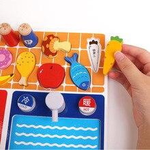 [Cloud Commercial Union] деревянная детская модель, плоский игровой домик для кухни, фруктов и овощей, плоская резка фруктов