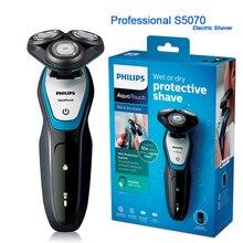 Novo profissional philips totalmente lavável barbeador elétrico s5050 com aquatec molhado & seco com sistema de proteção da pele navalha para homem