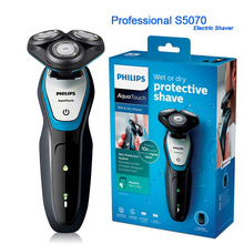 Nowy Philips profesjonalne w pełni elektryczna maszynka do golenia, którą można myć S5050 z AquaTec na sucho i na mokro ze skórą System ochrony golarka dla mężczyzn jest