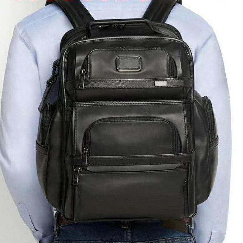 Seyahat masalı erkek su geçirmez deri sırt çantası iş seyahat omuz çantası dizüstü sırt çantası seyahat sırt çantası