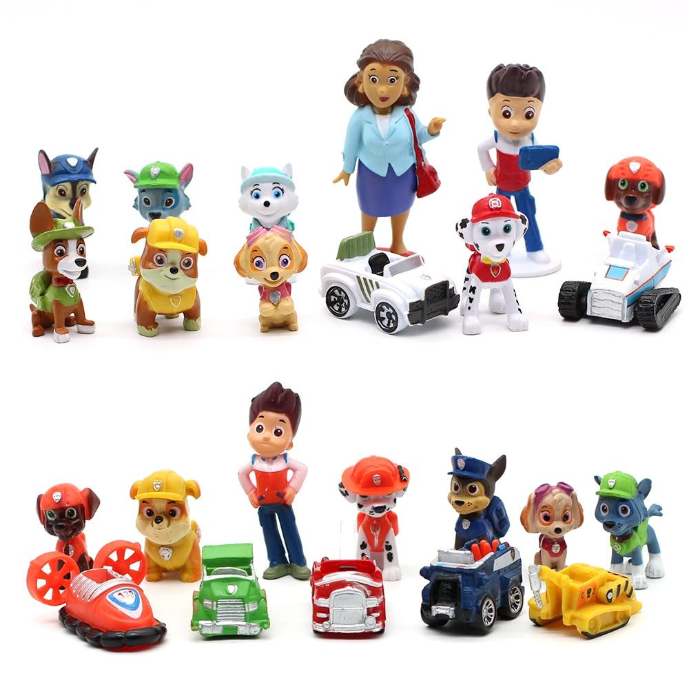 Figuras da patrulha canina, brinquedos de pvc, patrulha canina, decoração de bolo de aniversário, filhote de cachorro, presentes para crianças