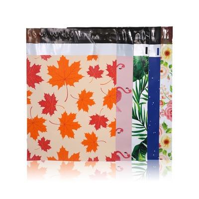 Утолщенная водонепроницаемая сумка для хранения 50 шт./лот спасибо 10*13 дюймов Рождественская поли-Курьерская упаковка для почтовых отправле...