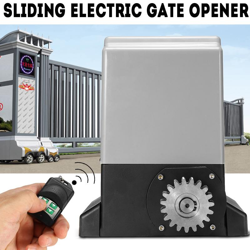 Heavy Duty 1000kg 550W Automatic Electric Sliding Gate Motor Opener Villa Electric Gate Opener With 2 Remote Control Switch