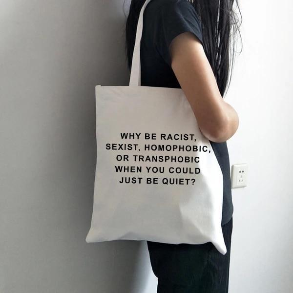 Casual Shoulder Large Capacity Shopping Bag Letter Print Girls Handbag Women Simple Package Tote Bag Student School Bags