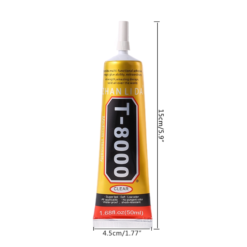 T8000 Multi Purpose Adhesive Glass Touch Screen LCD Panel Frame Fixing Glue 50ml