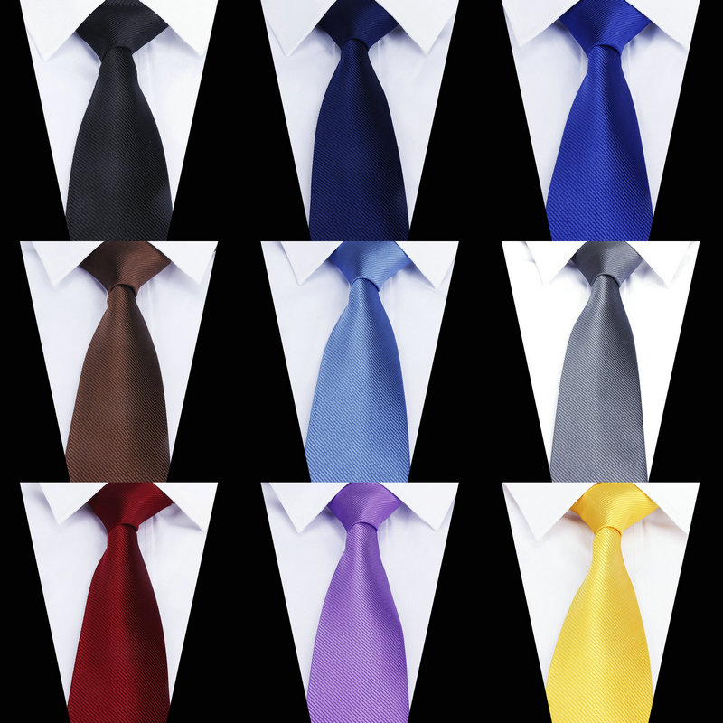 Brand New Classic Men's Solid Party Ties For Men Fashion Casual Neck Tie Gravatas Business Mens Neckties Corbatas 8cm Groom Ties