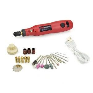 Image 5 - Newacalox máquina de moedura usb 5v dc 10w mini velocidade variável sem fio ferramentas rotativas kit broca gravador caneta para fresar polimento