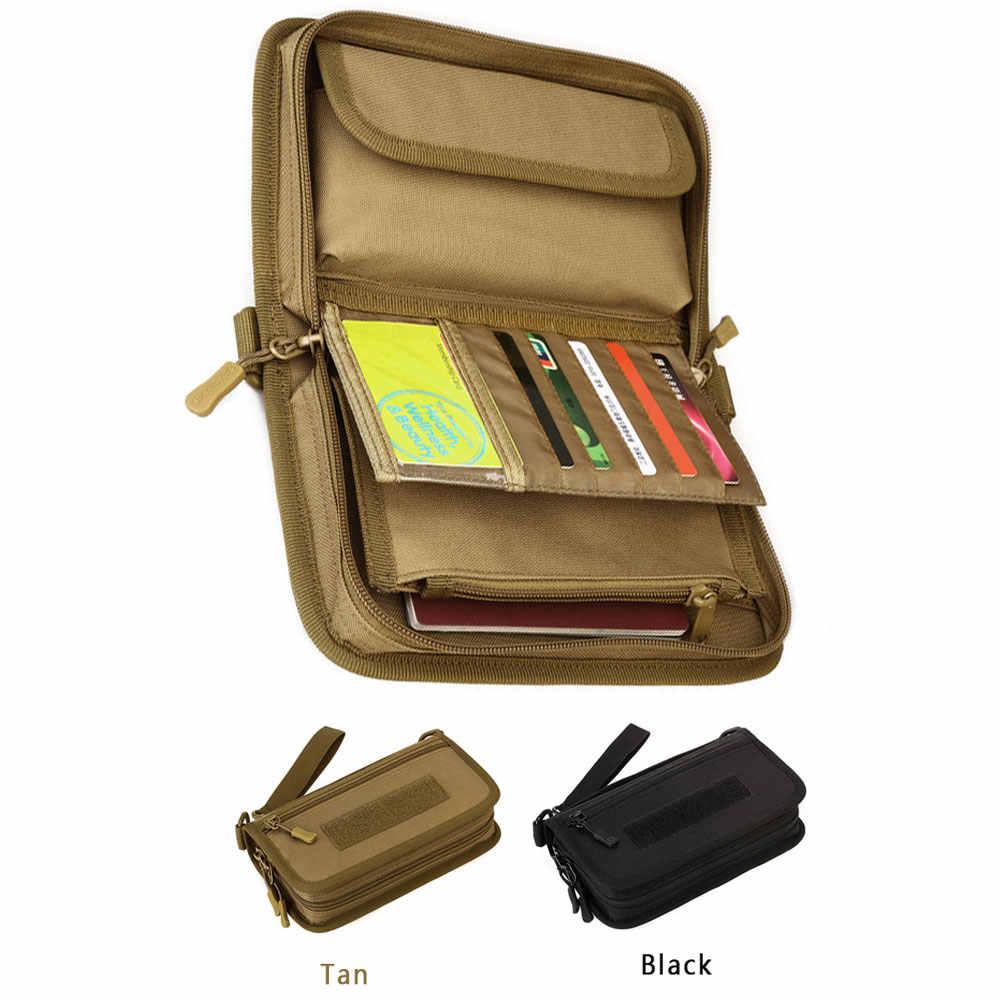 Tas Taktis Dompet Kartu Pemegang Pouch Outdoor Perjalanan Paspor Model 6 Inci Ponsel Dilipat Uang Tas Kartu Organizer