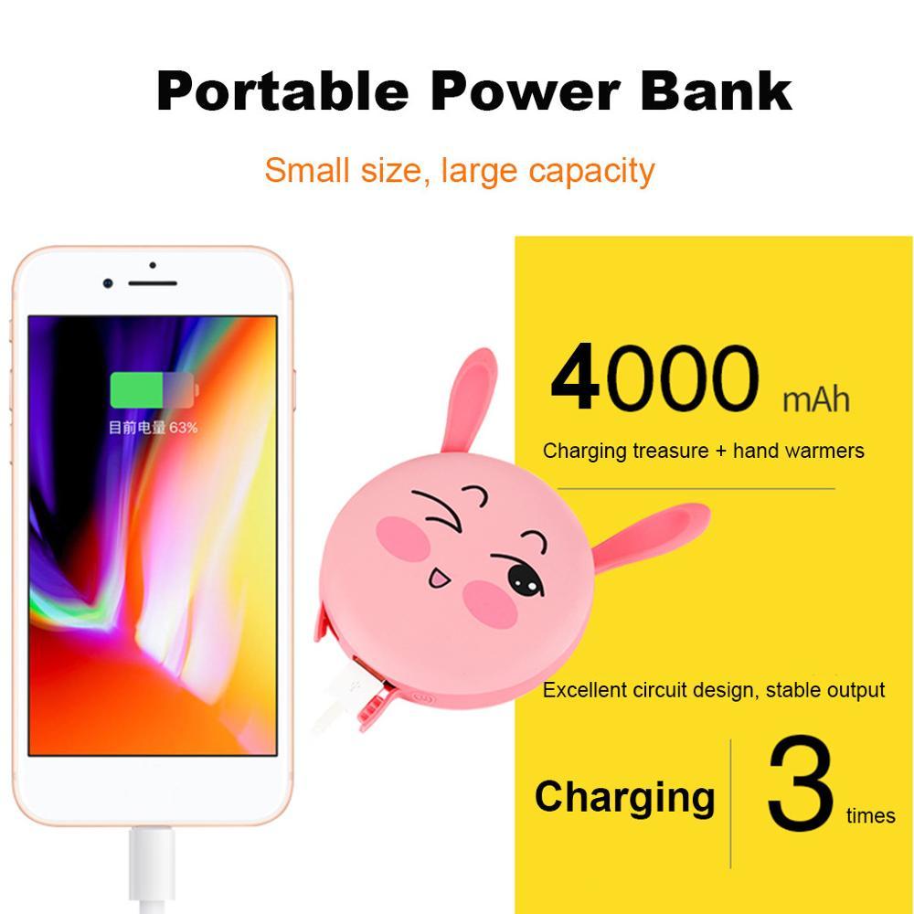Fengshang Chauffe-Mains Rechargeable USB 5200mAh Power Bank Batterie Externe Chaufferette Main /Électrique Poche R/échauffeur de Mains Portable pour iphone,Samsung,ipad