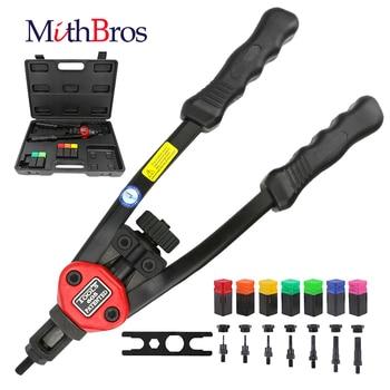 цена на MithBros Rivet Gun 12 Riveter Nut tool Nail Gun Auto Rivet Tool Hand Insert Rivet Nut Tool  Manual Mandrels M3 M4 M5 M6 M8