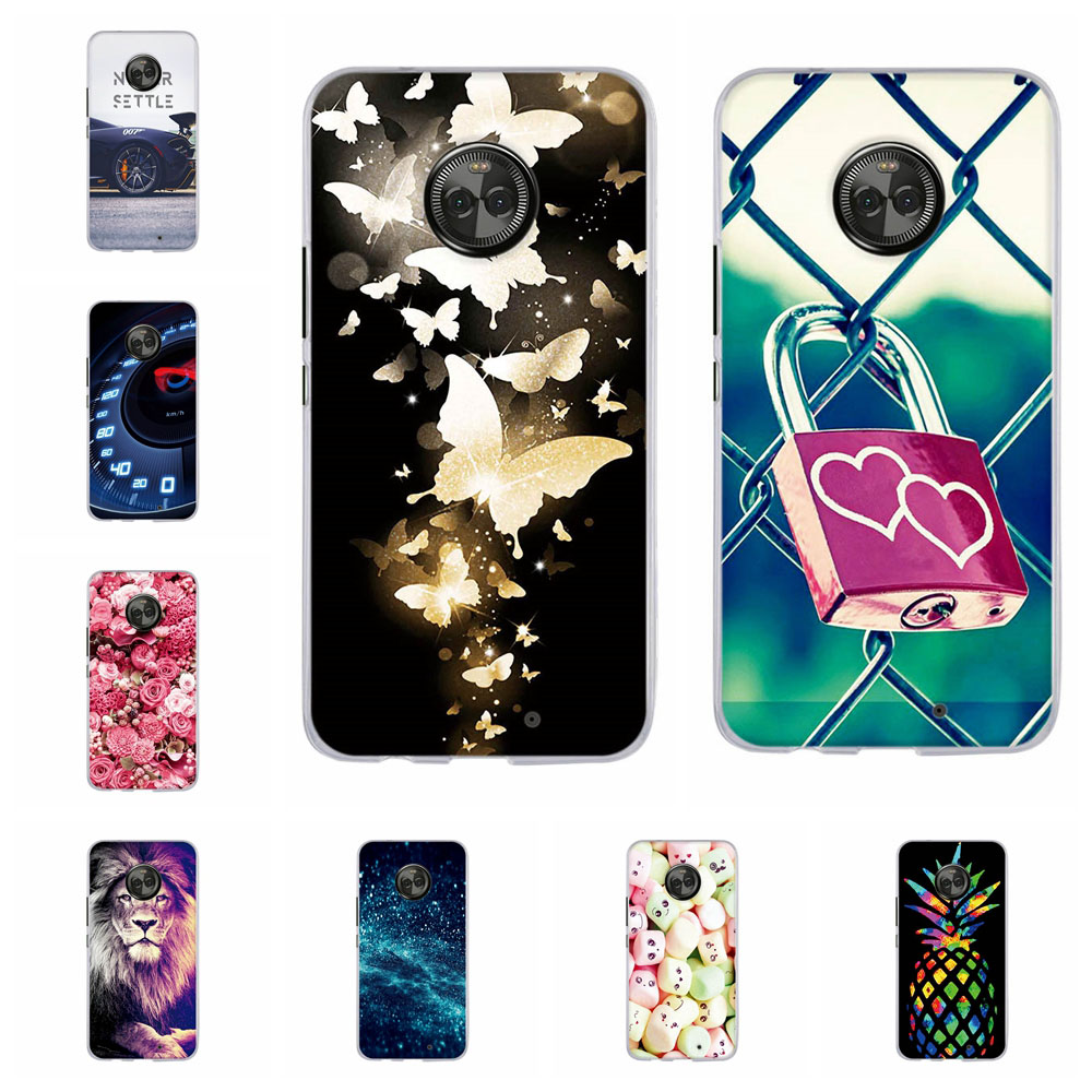 Case For <font><b>Motorola</b></font> <font><b>Moto</b></font> X4 Back Coque Cover For <font><b>Moto</b></font> X 2017 Case TPU Capa For <font><b>Moto</b></font> <font><b>XT1900</b></font> Silicone Animal Pattern Bumper Capa image