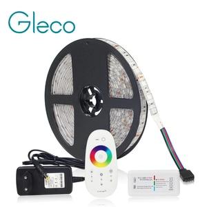 Image 1 - Комплект светодиодных лент, 12 В постоянного тока, Светодиодная лента 5050 60 светодиодов/м 5 м с радиочастотным контроллером 2,4 г, источник питания 12 В, 5050 Светодиодная лента RGB RGBW RGBWW CWW