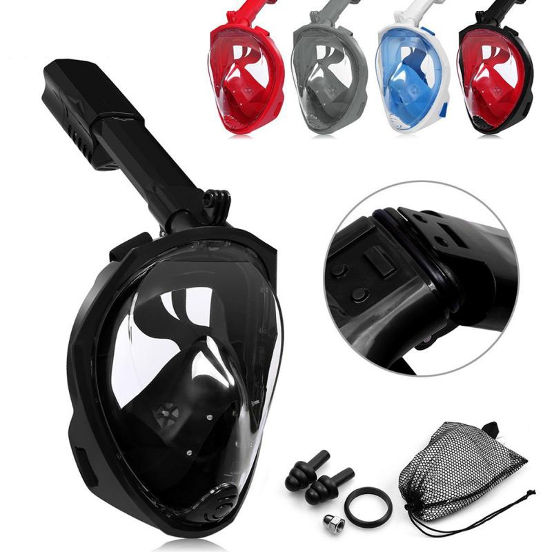 Full Face Diving Mask 180⁰ Viewing Area Seaview Snorkel Mask Panoramic Diving Set Underwater Anti Fog Diving Mask For Swimming