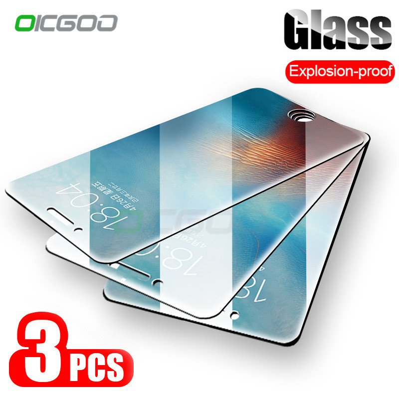 9H Anti-Burst Protective Glass On The For IPhone 7 5S 5 6 6s Tempered Screen Protector For IPhone Xs Max XR 11 Pro 8 Plus Glass