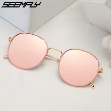 Seemfly Classic Steampunk Sunglasses Polarized Men Women Brand Designer Vintage Round Metal Frame Sun Glasses High Quality UV400