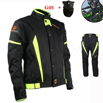 Motorcycle Jacket Pants Motorbike Riding Protective Suit Full Race season Motorcyclist Clothing Unisex For kawasaki zx9r zx10r