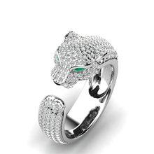 FDLK-Anillo de leopardo con incrustaciones de cristal para mujer, sortija Unisex con personalidad, regalo de joyas de fiesta