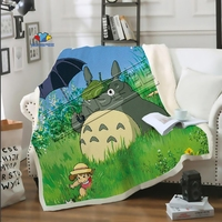 Anime Sofa Totoro Bedding car patterned Office cute stuffed blanket bedspread baby boy girl travel blanket sofa Thin quilt