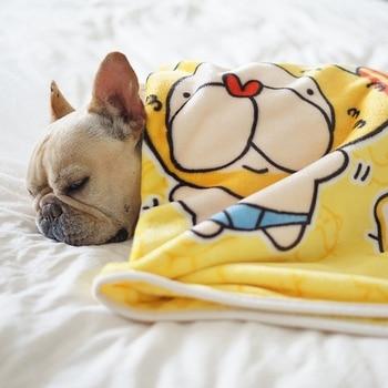 100X70cm Coral Fleece Dog Cat Bed Pet Blanket Soft Plush Puppy Mat Winter Warm Small and Medium-Sized Big Dog Cat Blanket