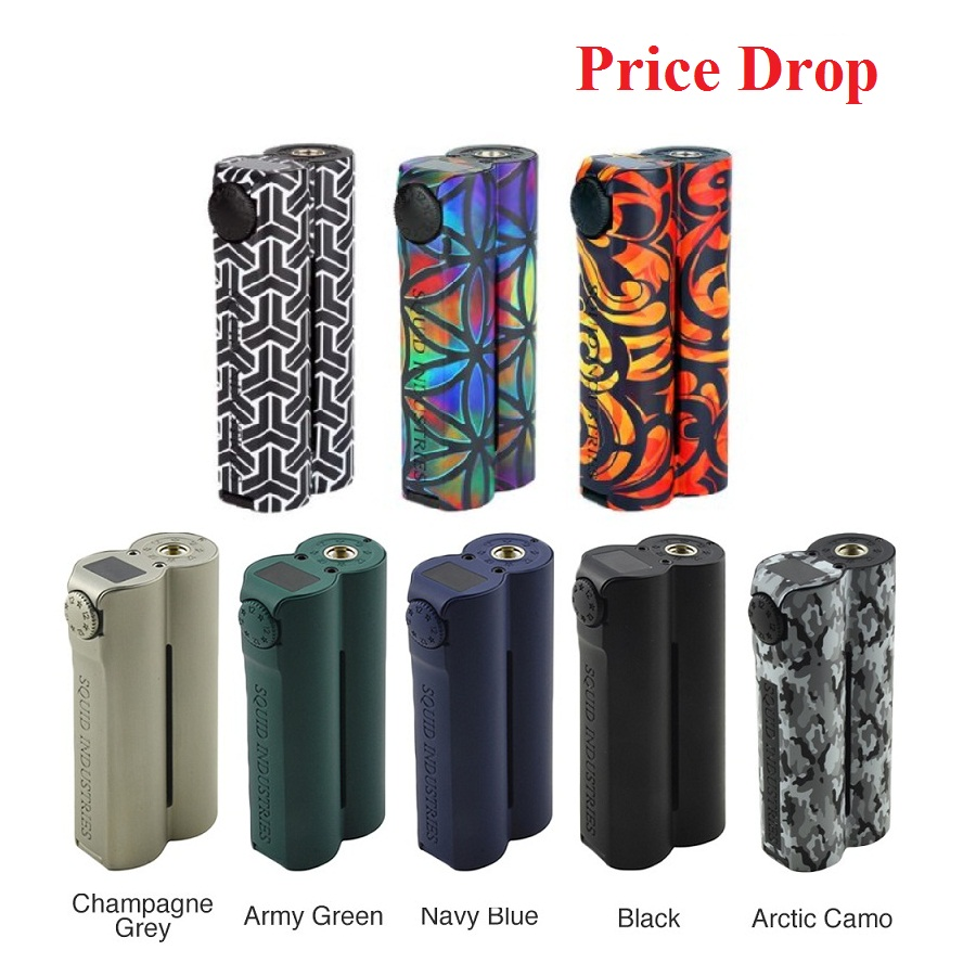 Original Heavengift Squid Industries Double Barrel V3 150W VW MOD Fat Top Design E-cig Mod With OLED Display VS Drag 2 /LUXE Mod