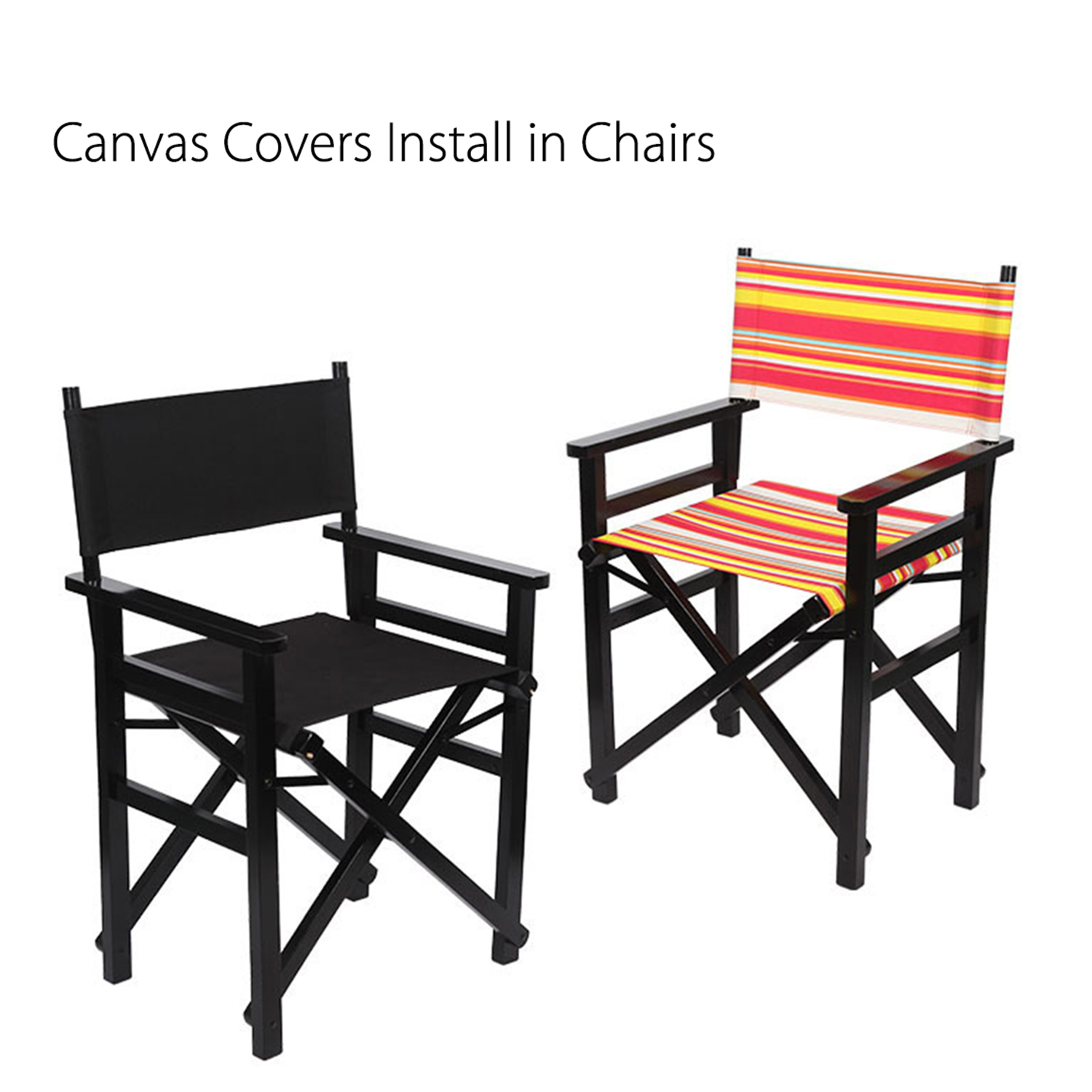 Outdoor Patio Garden Directors Chair Cover Replacement Canvas