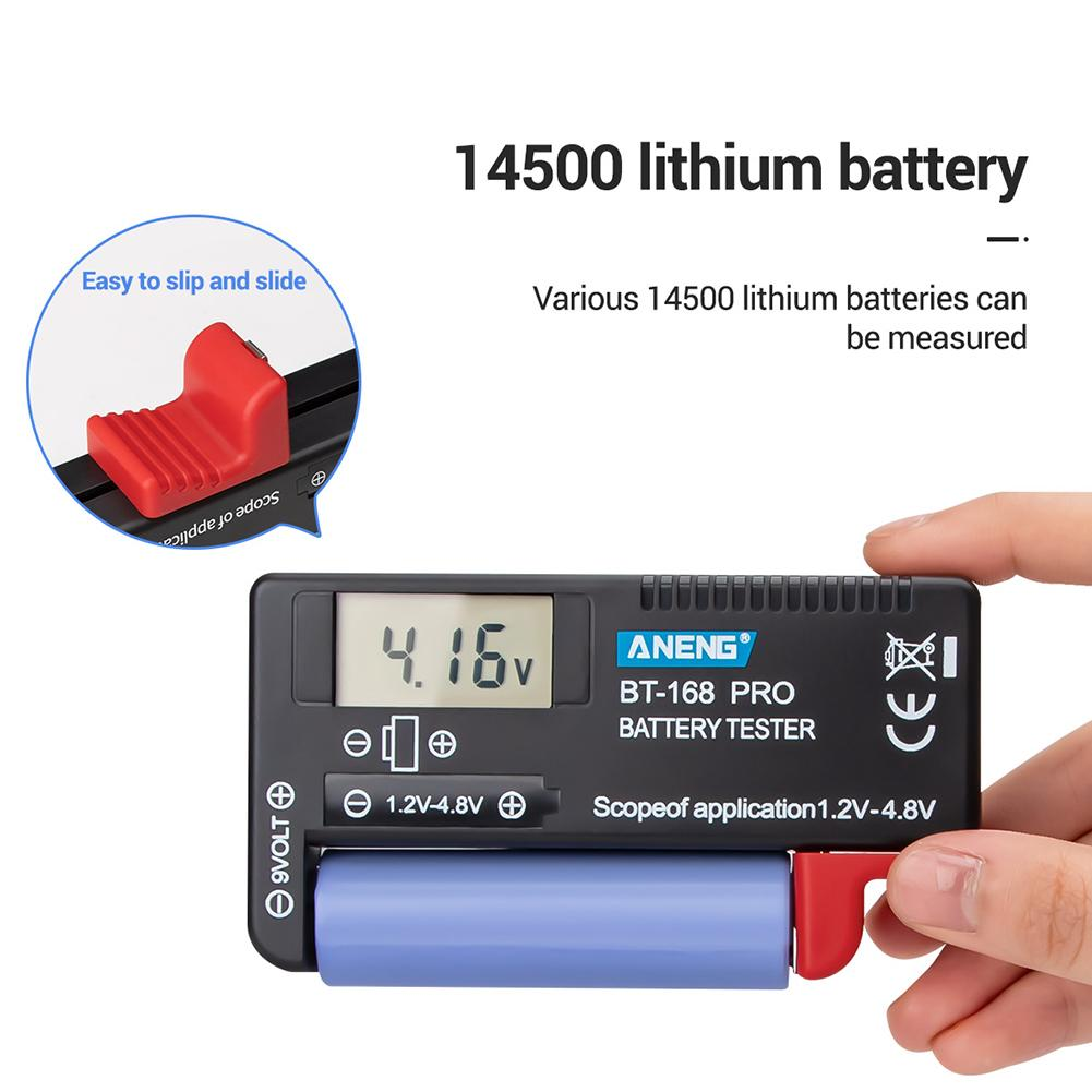 168 POR 1,2 в-4.8 в батарея тестер Универсальный литиевая батарея цифровой проверки для AA AAA C D 9V микро батареи