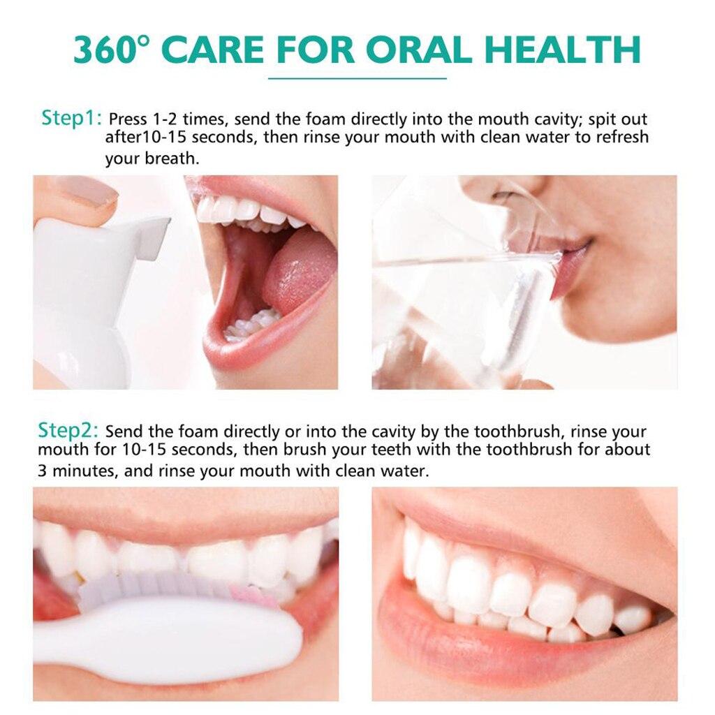 Blanchiment des Dents nettoyage des Dents Mousse de nettoyage des Dents souffle frais enlever les Dents et la fumée des Dents outils de soins de santé bucco-dentaires