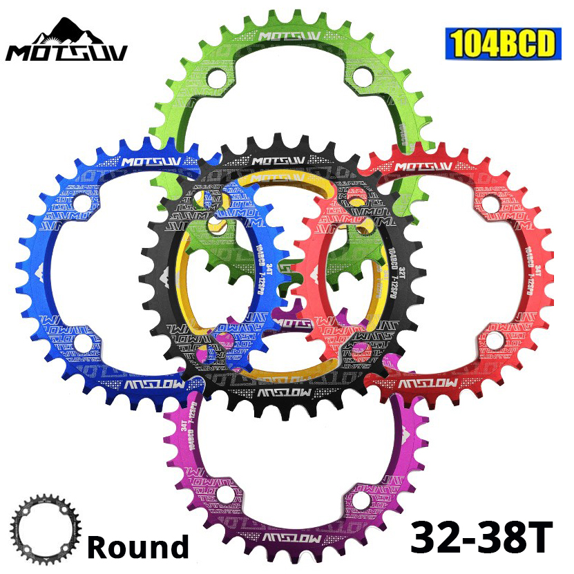 Crankset Tooth-Plate-Parts Bicycle 34T Mountain-Bike 32T Narrow 38T Wide-Chainring 104 Bcd