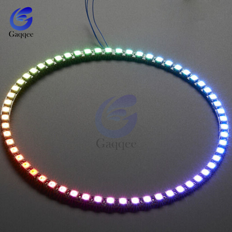 7-60 Bit Digital WS2812 RGB LED Ring Full Color Highlighting WS2812 5050 SMD Leds Strip Module Microcontroller DC 5V for Arduino