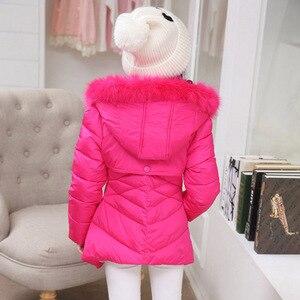 Image 5 - Abrigo para niños, prendas de vestir, sudaderas con capucha de piel de invierno, chaqueta para niñas, adolescentes, cálido, con capucha, abrigo largo de algodón acolchado grueso, 6 8 10 12 14