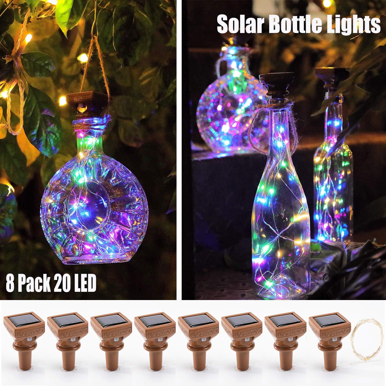 Solar Light String Wine Bottle Lights With Cork Firefly Lights For DIY Bottles Wedding Party Christmas Indoor/Outdoor Decor