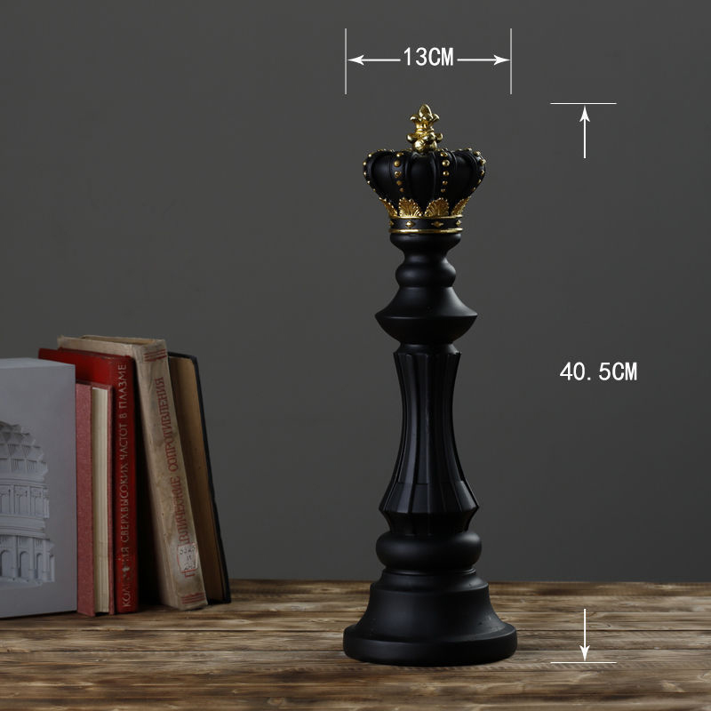 1Pcs Resin Chess Pieces Board Games Accessories International Chess Figurines Retro Home Decor Simple Modern Chessmen Ornaments-3
