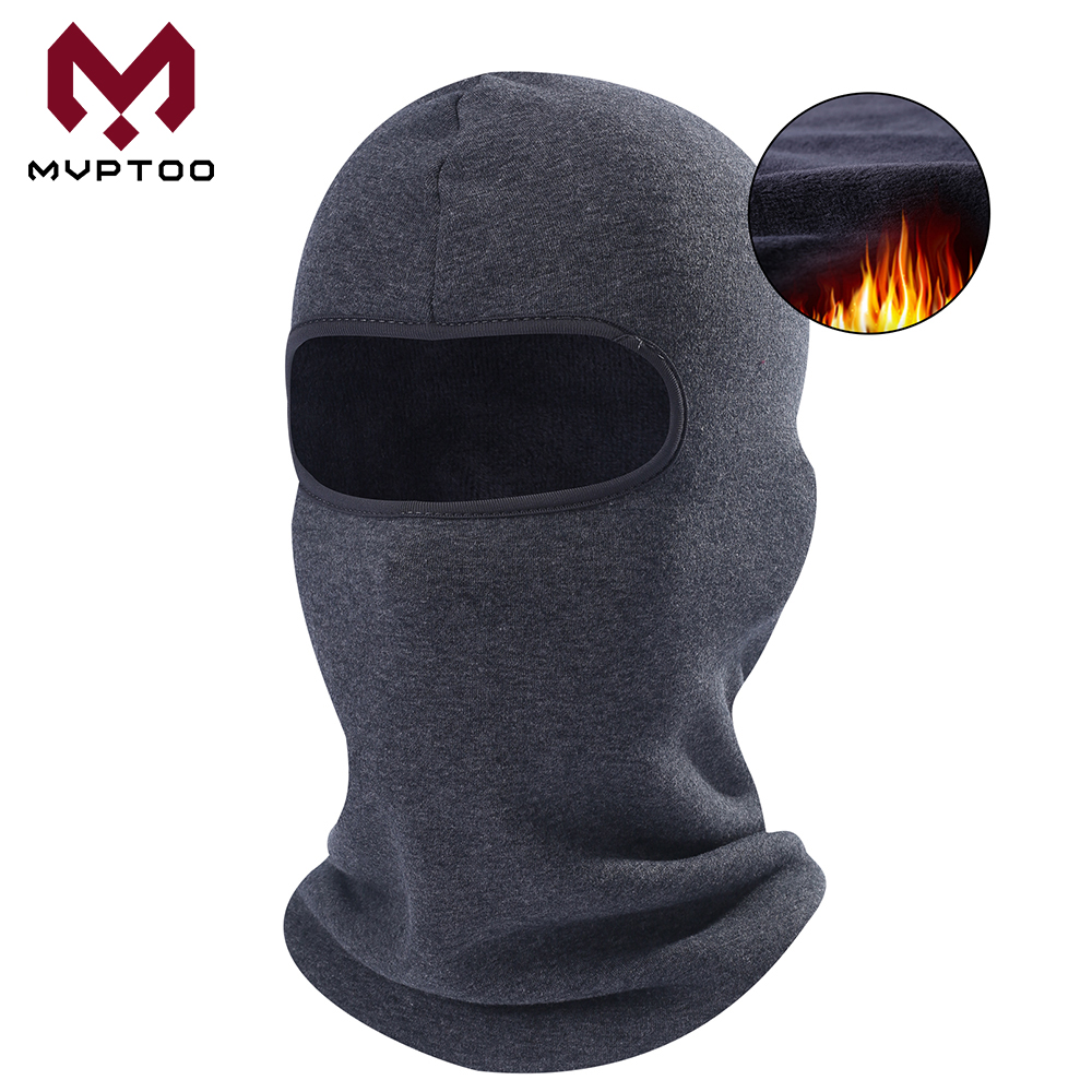 Winter Thermal Fleece Motorcycle Balaclava Cap Cold Weather Warmer Moto Military Tactical Cycling Full Face Mask Head Shield Men