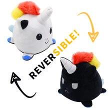 Kawaii acessórios bonito plushie crianças bebê polvo de pelucia reversivel duplo-face brinquedos petits animaux sapo panda