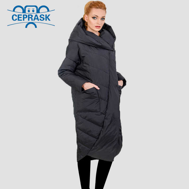 2019 Nieuwe Hoge Kwaliteit Dikke Parka Plus Size Lange Bio pluis Hooded Winter jas Vrouwen Europese stijl Warme Stijlvolle Winter jas