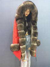 Winter Parka Real Fur Natural Fur Coat Park With Fur Women Big Fox Fur Collar Real Fur Parkas Fur Jacket with Hood 2020 NEW cheap ponkiy Rex Rabbit Fur Office Lady Thick Warm Fur Ages 18-35 Years Old With Fur Hood zipper REGULAR Full Thick (Winter)