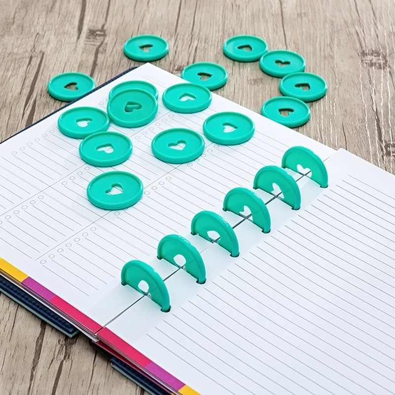 Entweg Disc Binding Ring,12pcs DIY Disc Binding Ring T-Type Mushroom Hole Loose Leaf Notebook Notepad Binder Fixing Disc Buckle 10mm//15mm//20mm//25mm