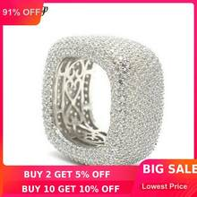 choucong Handmade Hollow Finger Ring 925 sterling Silver Micro pave 450Pcs AAAAA cz Wedding Band Rings For Women Men Jewelry(China)