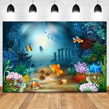 Photography-Background Backdrop Castle Shoot Photo-Studio Birthday-Party Underwater Baby Shower