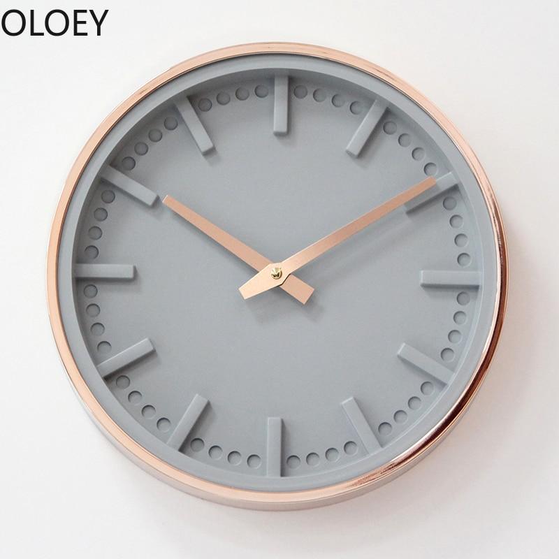 Or Rose 3D horloge murale grand silencieux salon chambre horloge murale Design moderne horloges mur plastique Simpe décor à la maison idée cadeau