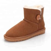 snow boots Selected Australian Lambskin Leather Reinforced Warm Non-slip Snow Boots ankle for women fashion shoes