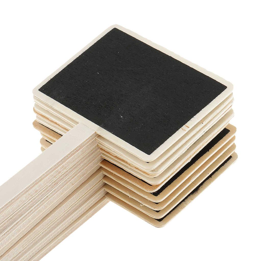 10pcs Mini Legno Chalk Board Lavagna per la Pianta Tag Marcatori/Mini Menu Etichetta Alimentare/Festa di Nozze A Casa segni decorativi