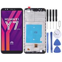 iPartsBuy LCD Screen and Digitizer Full Assembly with Frame for Huawei Y7 (2018)
