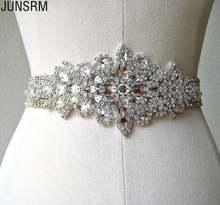 Женское свадебное платье с поясом блестящие роскошные аксессуары