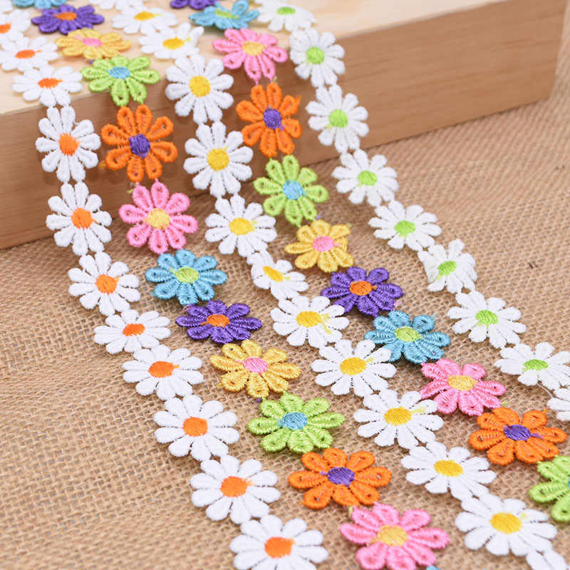 20 Rolls 200 Yards Floral Pattern Lace Ribbon Lace Trim Webbing Fabric for DIY Jewelry Gift Wrapping Wedding Decorations 0.88 Inch Wide
