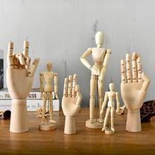Creative Jitda art wooden man movable joint hand wooden head man ornaments wooden joint man decoration