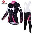 X-Tiger Для женщин зимние Термальность флис трикотажный комплект для велоспорта супер теплая одежда для езды на горном велосипеде, спортивной ...