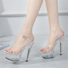 High Quality Female Model T Station Catwalk Sexy Crystal Transparent