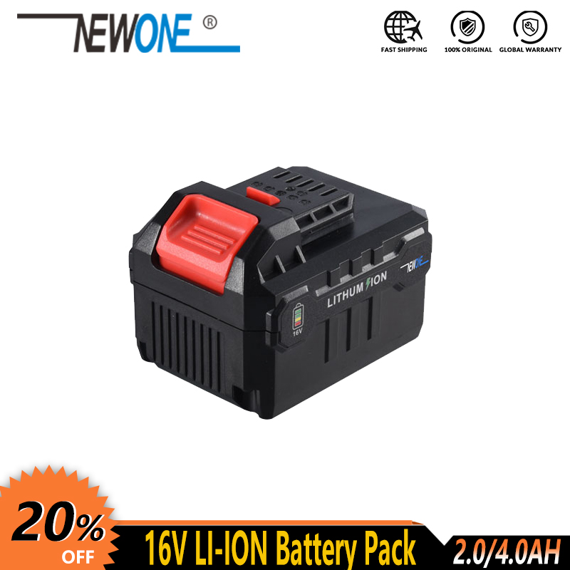 NEWONE 16V Lithium Battery 2000mAh/4000mAh compatible with drill, angle grinder, polisher, reciprocating saw, oscillating toolPower Tool Accessories   -
