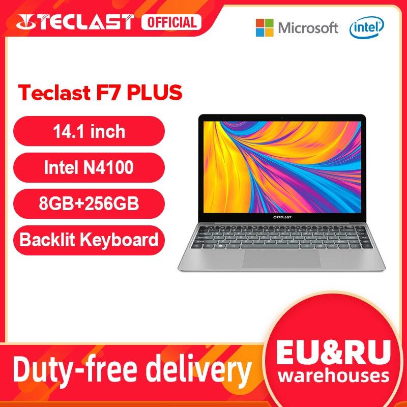 """Teclast F7 Plus 14.1"""" 8GB RAM 256GB SSD Laptop FULL HD 1920 x 1080 Intel Gemini Lake N4100 Windows 10 Backlit Keyboard Notebook Laptops  - AliExpress"""
